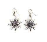German Edelweiss Earrings - ScandinavianGiftOutlet