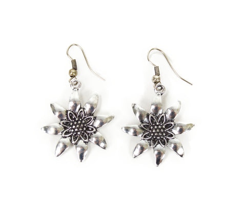 German Edelweiss Earrings - ScandinavianGiftOutlet  - 1