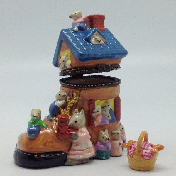 Children's Jewelry Boxes Old Lady In Shoe - ScandinavianGiftOutlet