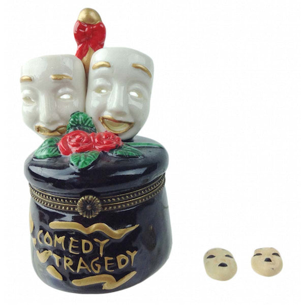 Tragedy and Comedy Mask Treasure Boxes - ScandinavianGiftOutlet