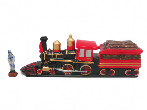 Train Collectibles American Wooden Train Hinge Box - ScandinavianGiftOutlet