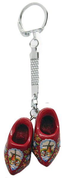 Danish Clogs Keychain Red - ScandinavianGiftOutlet