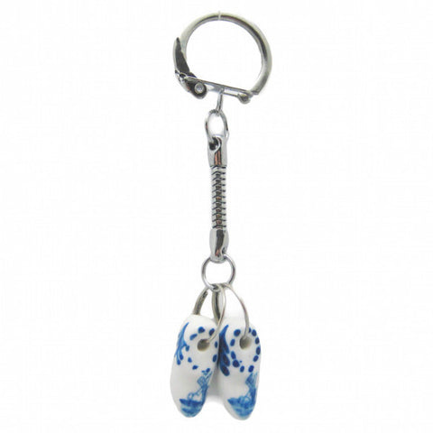 Holland Clogs Small Delft Ceramic Key Ring - ScandinavianGiftOutlet  - 1