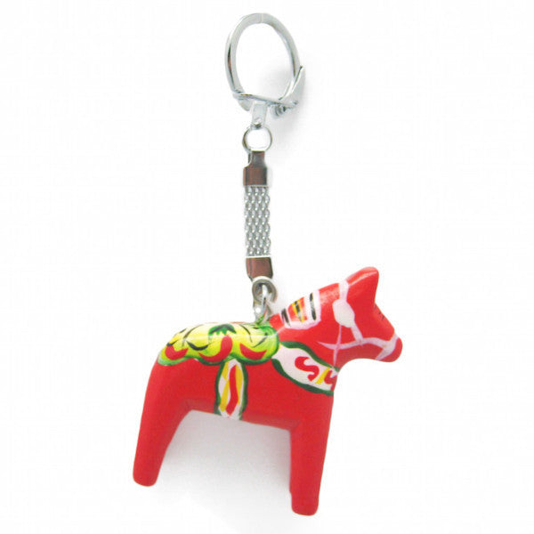 Dalarna Horse Red Key Ring - ScandinavianGiftOutlet  - 2