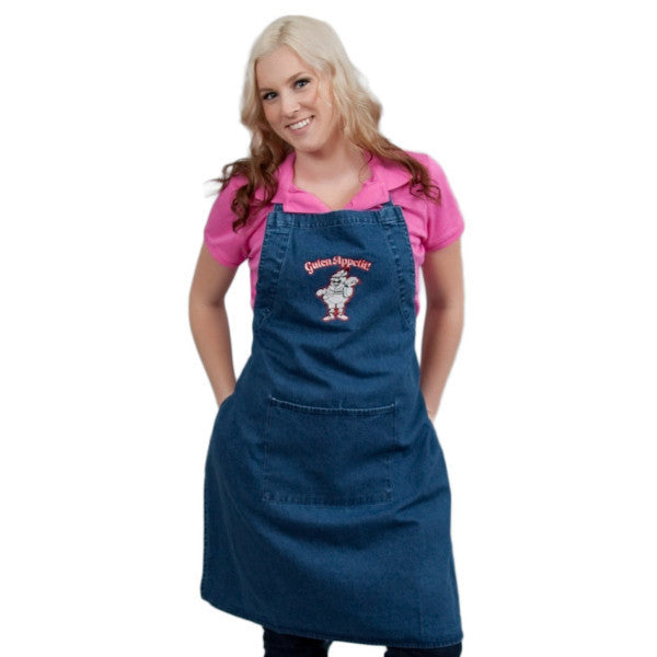 German Gift Idea Guten Appetit! Denim Apron - ScandinavianGiftOutlet  - 1