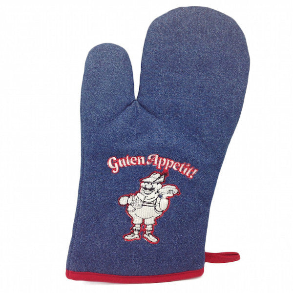 German Gift Idea Guten Appetit! Denim Mitten - ScandinavianGiftOutlet