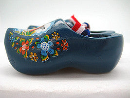Wooden Shoes Magnetic Gift Blue - ScandinavianGiftOutlet