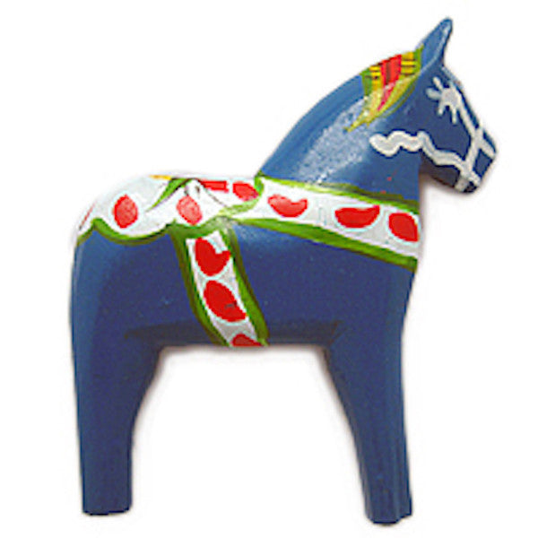 Sweden Horse Light Blue Magnet Gift - ScandinavianGiftOutlet