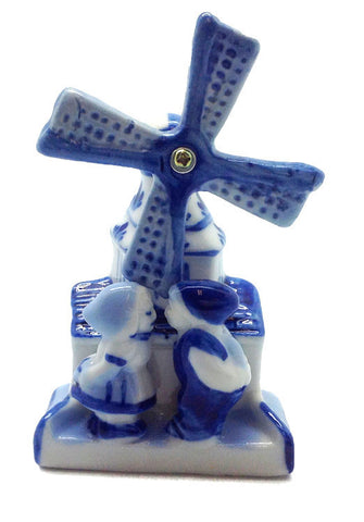 Ceramic Magnet Delft Windmill 3D Dutch Kiss - ScandinavianGiftOutlet  - 1