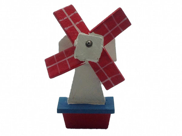 Windmill Gift Novelty Magnet Wooden Red & Blue - ScandinavianGiftOutlet