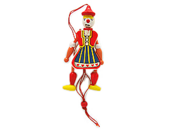 Finnish Ornaments Jumping Jack Toy Magnet Girl - ScandinavianGiftOutlet