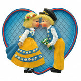 Party Favor Kitchen Magnet Swedish Kissing Couple - ScandinavianGiftOutlet