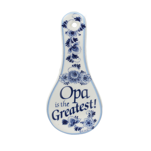 Ceramic Spoon Rest Magnet: Opa..Greatest