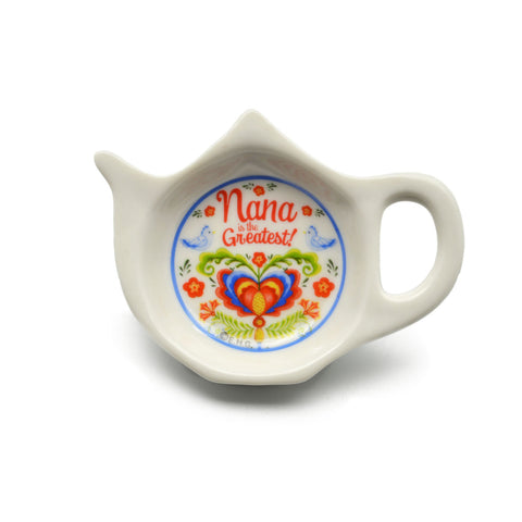 """Nana is the Greatest"" Teapot Magnet with Birds Design  - Scandinaviangiftoutlet.com"