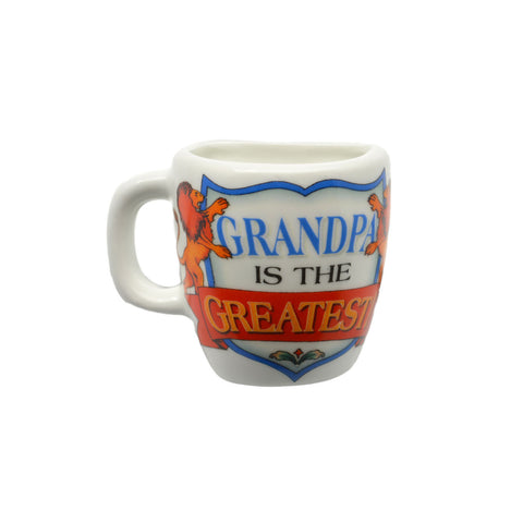 """Grandpa is the Greatest"" Ceramic Mug Magnet Grandpa Gift - 1 Scandinaviangiftoutlet.com"