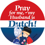 Magnetic Button: Dutch Husband - ScandinavianGiftOutlet  - 1