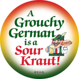 Metal Button: Grouchy German - ScandinavianGiftOutlet  - 1