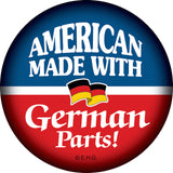 Metal Button: American Made..German Parts - ScandinavianGiftOutlet  - 1