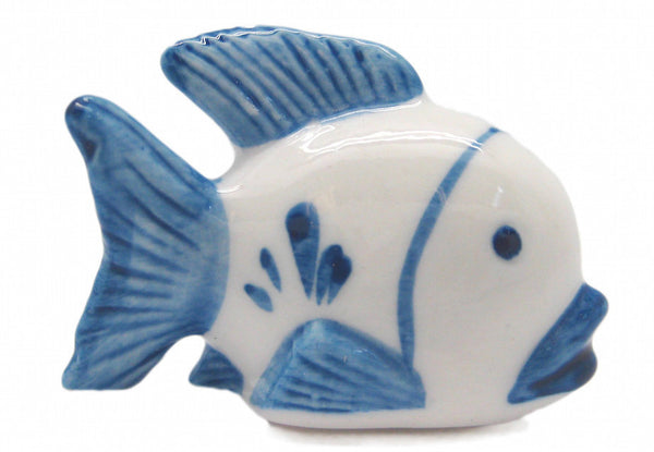 Ceramic Miniatures Animals Delft Blue Fish - ScandinavianGiftOutlet