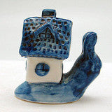 Ceramic Miniatures Animals Delft Blue Snail - ScandinavianGiftOutlet