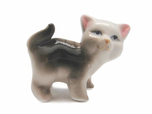 Animals Miniatures Brown Standing Cat - ScandinavianGiftOutlet