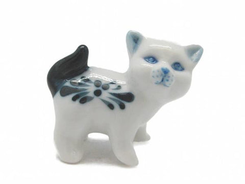 Animals Miniatures Blue Standing Cat - ScandinavianGiftOutlet