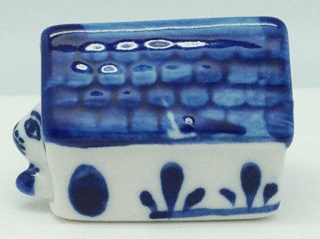 Miniature Animals Delft Blue Ceramic Dog House - ScandinavianGiftOutlet  - 1