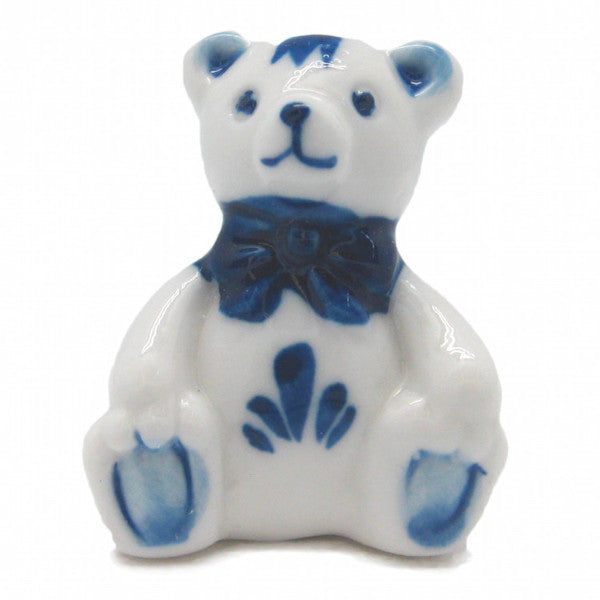 German Miniatures Blue Teddy Bear - ScandinavianGiftOutlet