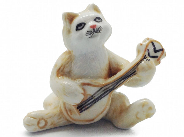 Miniature Musical Instrument Cat With Banjo - ScandinavianGiftOutlet