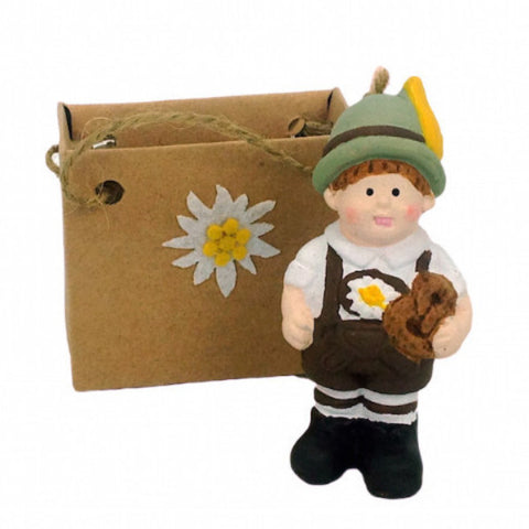 Ceramic Ornamental Mini German Boy - ScandinavianGiftOutlet
