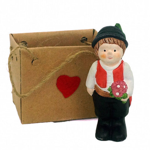Ceramic Miniature Czech Boy - ScandinavianGiftOutlet
