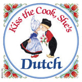 Dutch Souvenirs Magnet Tile (Kiss Dutch Cook) - ScandinavianGiftOutlet