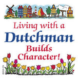 Dutch Souvenirs Magnet Tile (Living Dutchman) - ScandinavianGiftOutlet  - 1