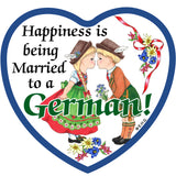 Magnetic Tile: Married to German - ScandinavianGiftOutlet - 1
