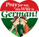Magnetic Tile: German Wife - ScandinavianGiftOutlet  - 1