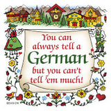 German Gift Idea Magnet (Tell A German) - ScandinavianGiftOutlet  - 1