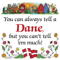 Danish Shop Magnet Tile (Tell A Dane) - ScandinavianGiftOutlet