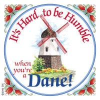 Danish Shop Magnet Tile (Humble Dane) - ScandinavianGiftOutlet