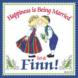 Finnish Souvenirs Magnetic Tile (Happiness Married To A Finn) - ScandinavianGiftOutlet  - 1