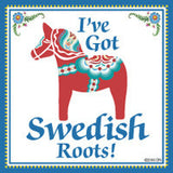 Swedish Souvenirs Magnet Tile (Swedish Roots) - ScandinavianGiftOutlet