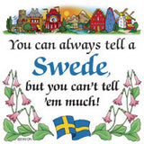 Swedish Souvenirs Magnet Tile (Tell Swede) - ScandinavianGiftOutlet