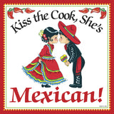 Mexican Gifts: Kiss Mexican Cook Tile Magnet - ScandinavianGiftOutlet