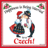 "Czech Gift For Women Magnet ""Married to Czech"" - ScandinavianGiftOutlet"