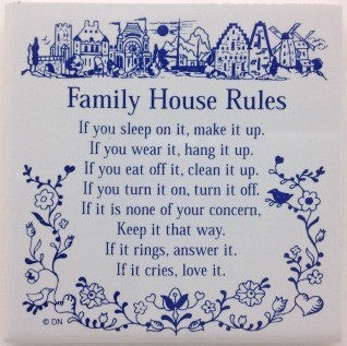 Magnetic Tiles Sayings: Family House Rules - ScandinavianGiftOutlet  - 1