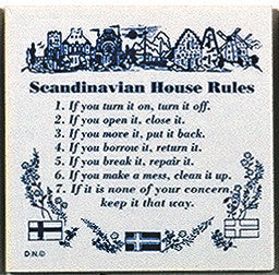 Magnetic Tiles Sayings: Scandinavian House Rules - ScandinavianGiftOutlet