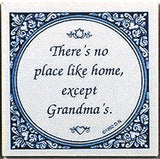 Magnetic Tile Sayings: No Place Like, Grandma's: Black - ScandinavianGiftOutlet