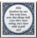 Magnetic Tiles Quotes: Grandma's Heart Gold - ScandinavianGiftOutlet