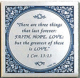 Magnet Tiles Quotes: Three Things: Greatest Is Love - ScandinavianGiftOutlet  - 1