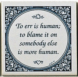 Magnet Tiles Quotes: To Err Is Human - ScandinavianGiftOutlet