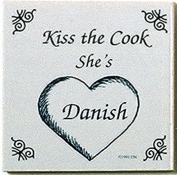 Danish Culture Magnet Tile (Kiss Danish Cook) - ScandinavianGiftOutlet  - 1